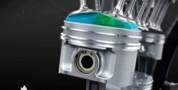 камера сгорания двигателя