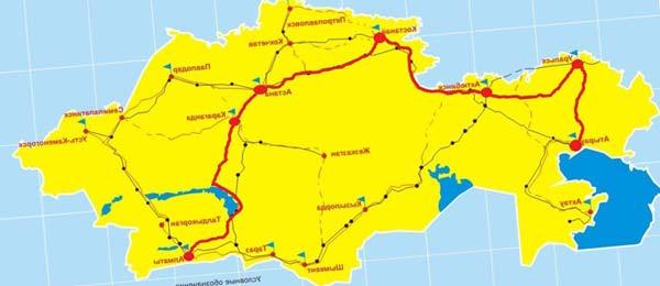 прокладка маршрута между городами