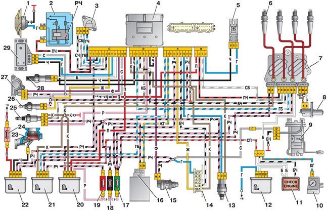 Схема подключения инжектора ваз 2107 фото 315