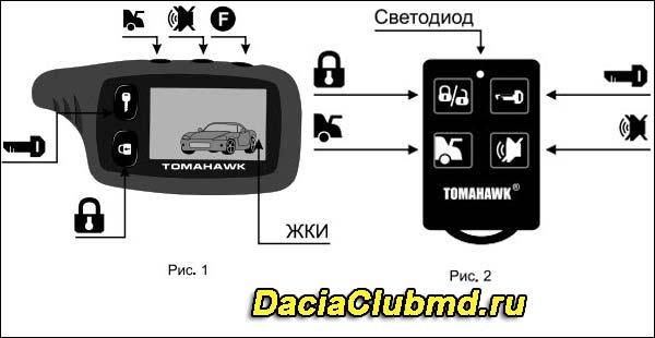 брелок томагавк 9010